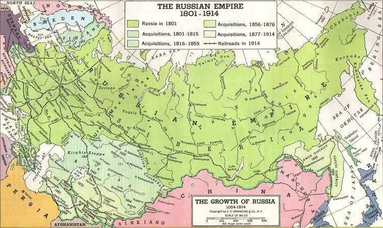 an overview of the russia in the 1800s and the russian tsars Russian americans by paul robert magocsi overview since the second half of the nineteenth century, russia [1] has been the largest country in the world, stretching from the plains of eastern europe [2] across siberia.